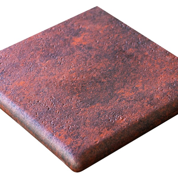 Gres de Aragon Jasper Rojo угловая ступень